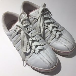 Leather K•Swiss White & Pink size 9